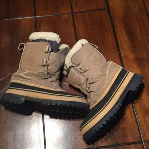 Sorel women's Caribou Snow Hiking Boots Wool Lined